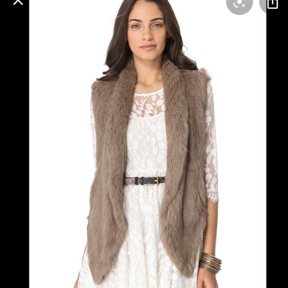 June fur vest with pockets